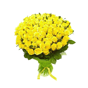 Букет из 101 желтой розы
