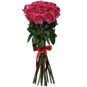 Букет из 15  розовых роз - премиум